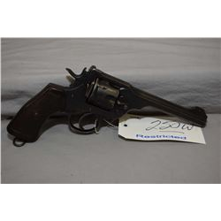 Restricted Webley Model Mark VI .455 Rev Cal 6 Shot Revolver w/ 152 mm bbl [ blued finished with var