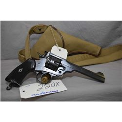 Restricted Webley Model Mark VI .455 Rev Cal 6 Shot Revolver w/ 152 mm bbl [ appears to have reblued