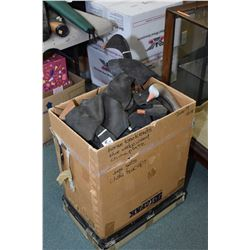 Lot of Two Items : Bundle Lot of Three Rifle Cases and Large Box of Approx. Over Fifty Duck Decoys (