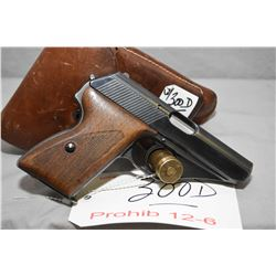 Prohib 12 - 6 Mauser Model HSC 7.65 MM Cal 8 Shot Semi Auto Pistol w/ 86 mm bbl [ blued finish fadin