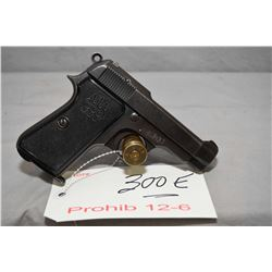 Prohib 12 - 6 Beretta Model 1935 Dated 1940 7.65 MM Cal 8 Shot Semi Auto Pistol w/ 85 mm bbl [ fadin