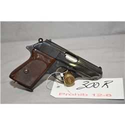 Prohib 12 - 6 Walther Model PPK 7.65 MM Cal 7 Shot Semi Auto Pistol w/ 83 mm bbl [ appears excellent