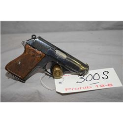 Prohib 12 - 6 Walther Model PPK 7.65 MM Cal 7 Shot Semi Auto Pistol w/ 83 mm bbl [ blued finish, fad