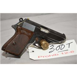 Prohib 12 - 6 Walther Model Model PPK 7.65 MM Cal 7 Shot Semi Auto Pistol w/ 83 mm bbl [ blued finis