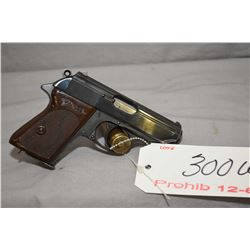 Prohib 12 - 6 Walther Model PPK 7.65 MM Cal 7 Shot Semi Auto Pistol w/ 83 mm bbl [ appears v - good,