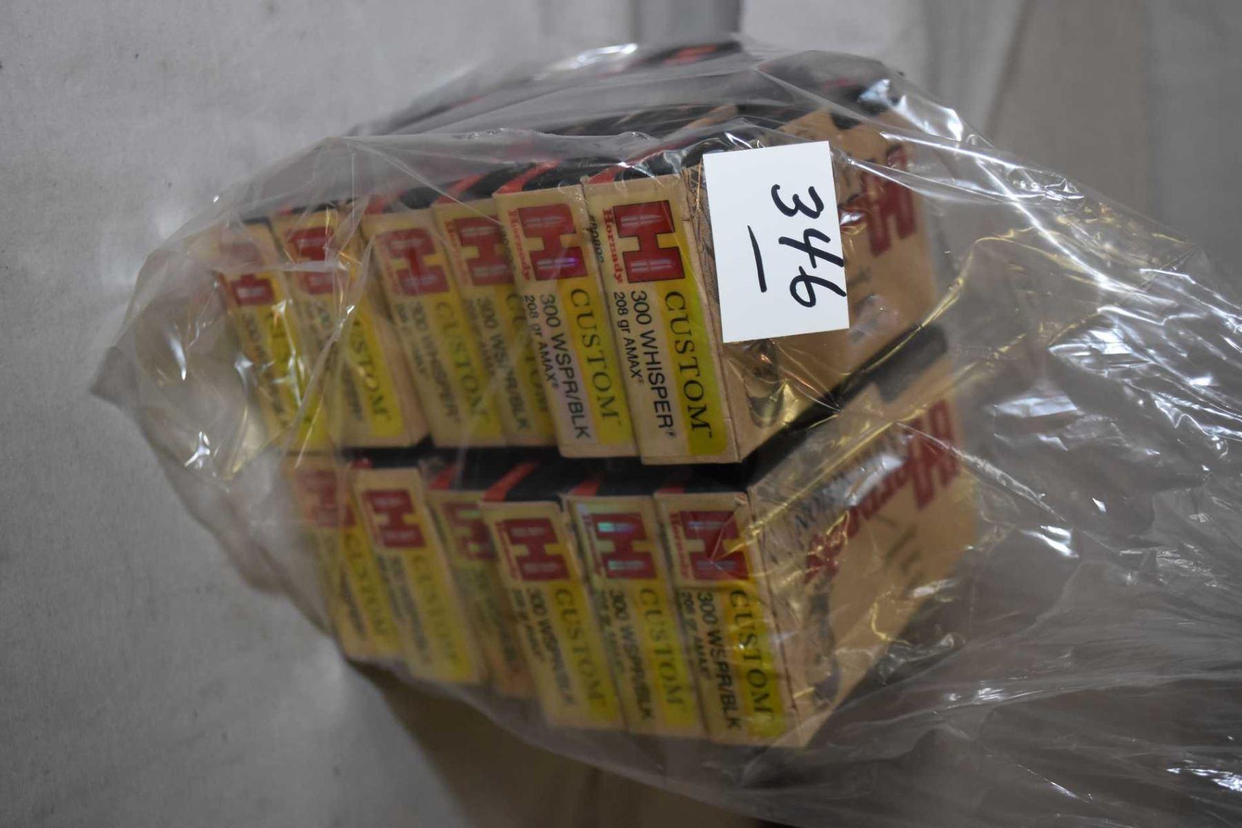 Bag Lot : Twelve Boxes ( 20 rnds per ) Hornady Custom  300 Whisper