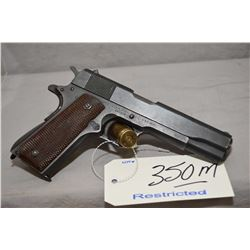 Restricted - Colt ( Remington Rand ) Model M 1911 - A 1 U.S. Army .45 Auto Cal 7 Shot Semi Auto Pist