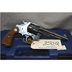 Restricted Colt Model New Service .45 Colt Cal 6 Shot Revolver w/ 140 mm bbl [ appears v - good, sli