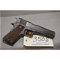 Restricted Colt ( Remington Rand ) Model 1911 A 1 U.S. Army .45 Auto Cal 7 Shot Semi Auto Pistol w/