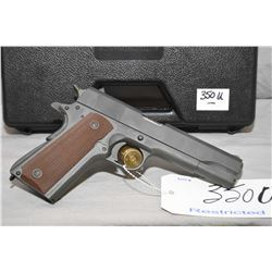 Restricted Auto Ordnance Model 1911 A1 WWII Parkerized Series .45 Auto Cal 7 Shot Semi Auto Pistol w