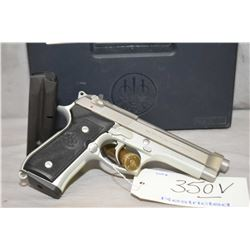 Restricted Beretta Model 92FS .9 MM Luger Cal 10 Shot Semi Auto Pistol w/ 125 mm bbl [ appears excel