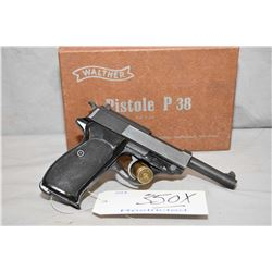 Restricted Walther Model P1 .9 MM Luger Cal 8 Shot Semi Auto Pistol w/ 127 mm bbl [ blued finish, ma