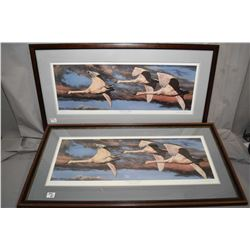 "Lot of Four Framed Pictures : Limited Edition Print No. 278/ 300 ""Twilight Vigil "" A. Halliburton ["