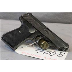 Prohib 12 - 6 Sauer Model 38H 7.65 MM Cal 8 Shot Semi Auto Pistol w/ 83 mm bbl [ fading blue finish,