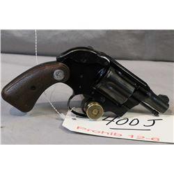 Prohib 12 - 6 Colt Model Model Cobra ( Lightweight ) .38 Spec Cal 6 Shot Revolver w/ 51 mm bbl [ blu