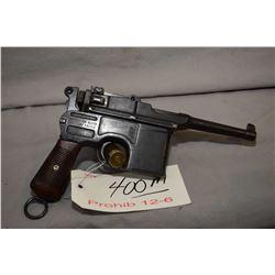 Prohib 12 - 6 Mauser ( Mauser Banner ) Model C96 Broomhandle Bolo 7.63 MM Mauser Cal 10 Shot Semi Au