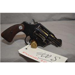 Prohib 12 - 6 Colt Model Detective Special .38 Spec Cal 6 Shot Revolver w/ 51 mm bbl [ blued finish,