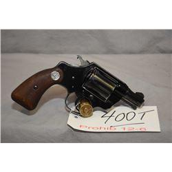 Prohib 12 - 6 Colt Model Cobra .38 Spec Cal 6 Shot Revolver w/ 51 mm bbl [ blued finish with some ho