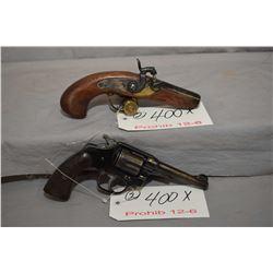 Lot of Two Prohib 12 - 6 Handguns - Jukar Model Philadelphia Derringer Reproduction .45 Perc Cal 1 S