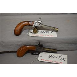 Lot of Two Prohib 12 - 6 Handguns - Unknown Model Side by Side .40 Perc Cal 2 Shot Multi Barrel Pist