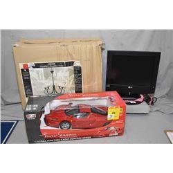 Lot of Three Items : Small LG T.V. w/ remote - New in Box Chandelier Retail $ 110.00 - MJXRC 1:10 Sc