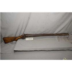 "C. Fletcher Model S X S Hammer .12 Ga Side By Side Shotgun w/ 30"" fading brown Damascus pattern barr"