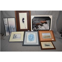 """Lot of Eight Framed Pictures : Limited Edition Print No. 113/ 450 """"The Gathering"""" by Mel Dobson [ Ea"""