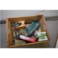 Small Wooden Box : 2 Boxes ( 50 rnds per ) Remington .25 Auto 50 Grain Ammo - 1 Box & 30 Rnds 7.62 M