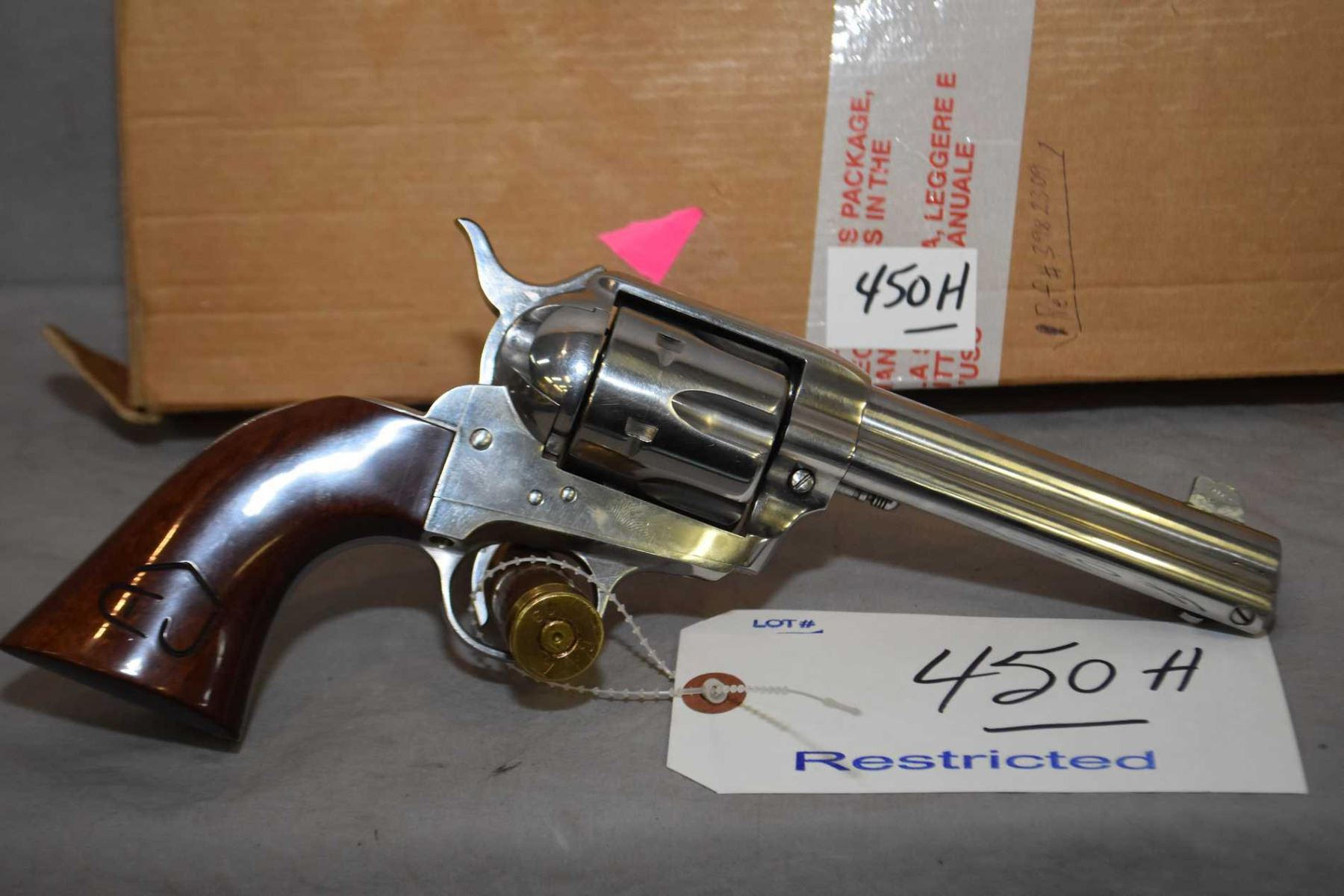 Restricted Cimarron Firearms Model Frontier Six Shooter  45