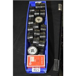Blue Plastic Tray : Approx. Thirty Three Boxes Champion Stinger .177 Pellets - 1 Can Crosman .22 Pel