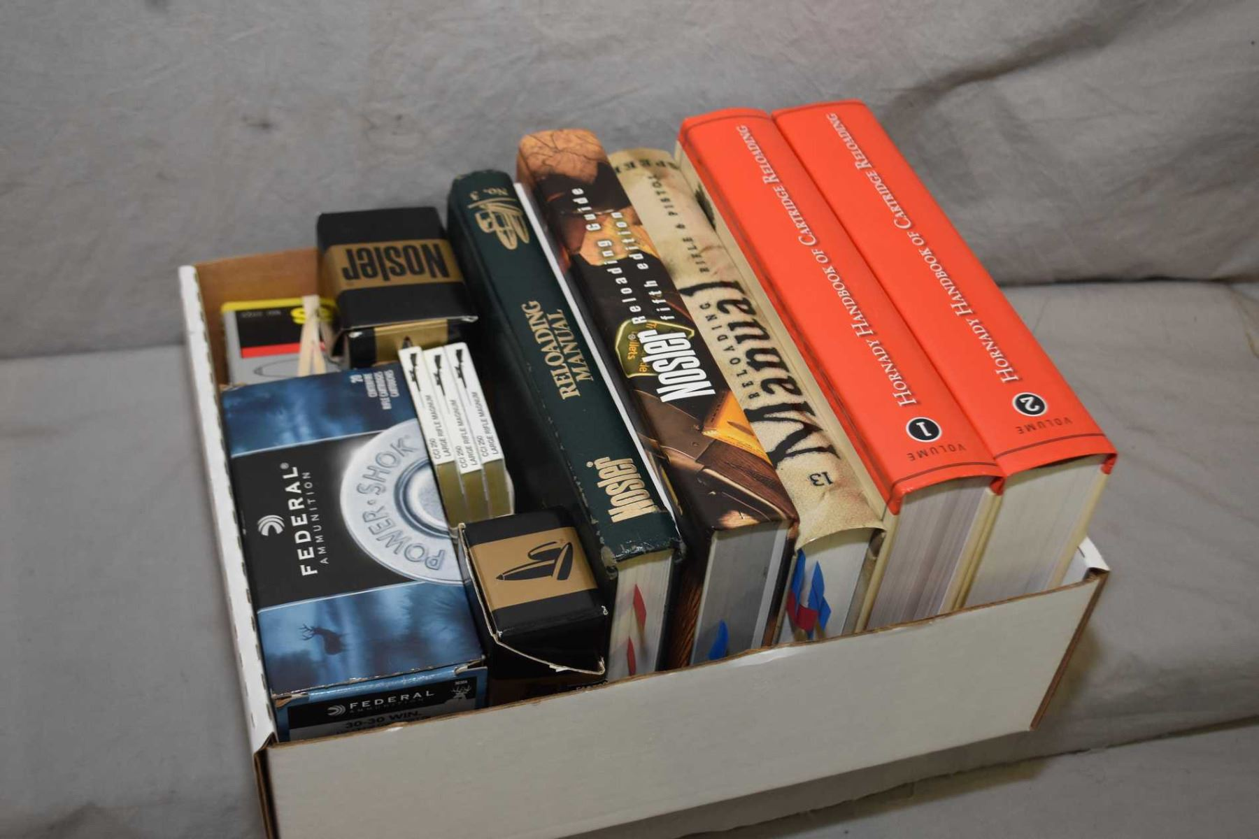 Box Lot : Reloading Manuals Including : Hornady Volumes