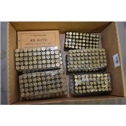 Box Lot : Approx. 250 Rnds .45 Auto Cal Reloads - Approx. 250 Rnds .9 MM Luger Reloads