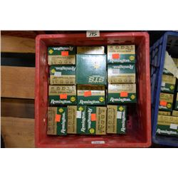 "Red Plastic Crate : Twenty Seven Boxes Remington .20 Ga 2 3/4"" # 9 Shot Shells - Retail $ 14.99 Each"