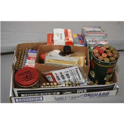 Large Box Lot : Ammo, Gun Cleaning & Blueing Supplies : 17 RNds .300 Win Mag - 15 Rnds .7 MM Rem Mag