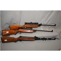 Lot of Three Grizzly Model Scout .177 Pellet Cal Pellet Rifles w/ 4 x 20 Scopes [ note : One is miss