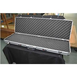 Mezzi brand hard rifle case with double combination, still set to factory zero