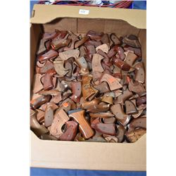 Large selection of wooden revolver grips