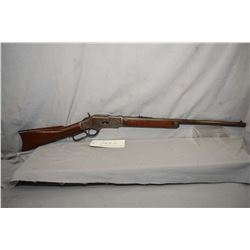 """Winchester 1878, .44 cal center fire, lever action rifle with mag feed 24"""" bbl, fixed front and adju"""