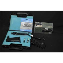 Brand new in box Burris AR Tripler, Bench MadeRescue hook, Bench made knife sharpener etc.