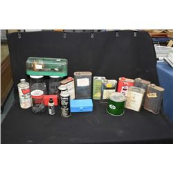 Lot of assorted, partially used smokeless powder containers, relabelled powder and a RCVS powder sca