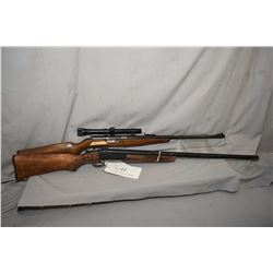 Two long rifles including Venturina .22 LR rifle, no mag. Serial # 56824 and a Sure Shot hinge break