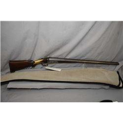 "Parker Bros. side by side, hinge break 12 gauge shot gun, 30"" damascus barrel, double bead sight, gr"