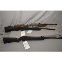 Three air rifles including Cross 780XL, 645 fps, a Crossman 785, 600 fps and a Stoeger X%, 495 fps,