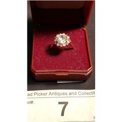 Cubic Zirconia & Ruby 10K Gold Ring