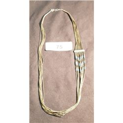 Sterling Necklace, 10 Strand, 25""