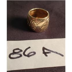 14 ct  Gold Native Motif Ring