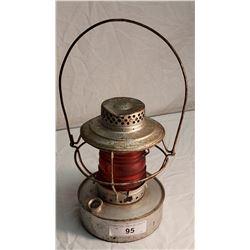 Handlan St. Louis USA Kerosene Railway Lamp w/ Red Lens