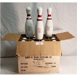 12 Jim Beam Bowling Pins in Original Box
