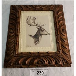 Engravings of Stage, Framed, Signed T.B, Jan 1829