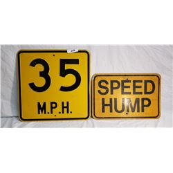 Steel Embossed 35MPH Speed Limit Sign, Aluminum Speed Humb Sign